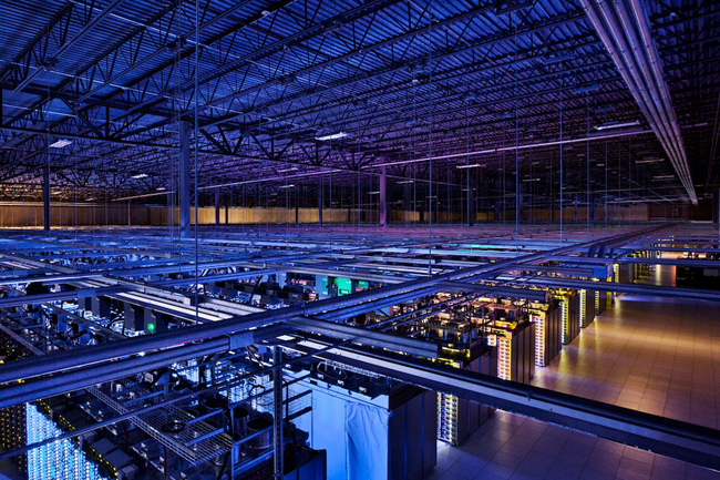 Infrastructura din interiorul unui data center Google
