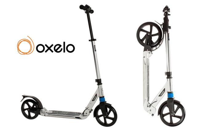 Trotineta pliabila Oxelo Town 7 XL Chrome cu suspenie sarcina maxima 100 kg