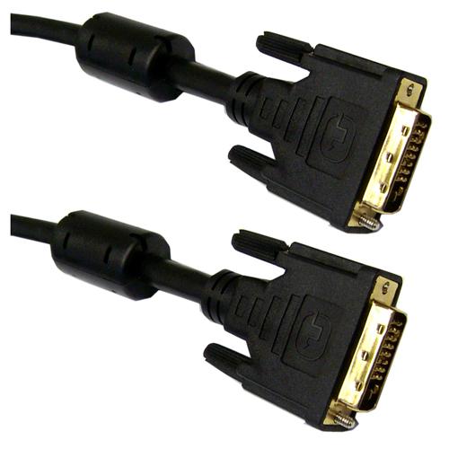 Cablu video DVI cu manșoane de ferită la ambele capete