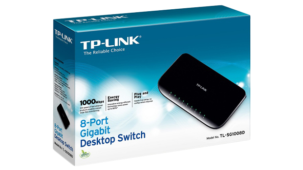 Switch TP-Link TL-SG1008D cu 8 porturi gigabit cu tehnologia Green Energy