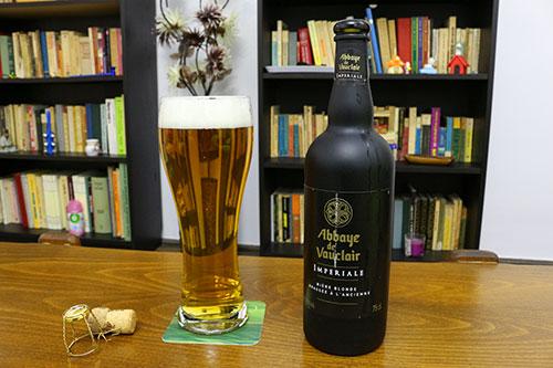 Bere blondă Abbaye De Vauclair Imperiale pahar