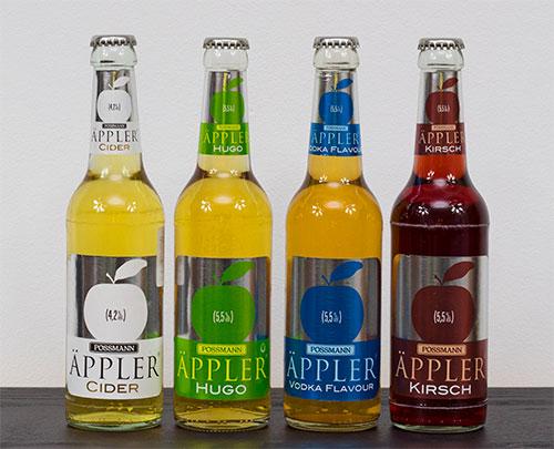Cidru Possmann Appler cu diferite arome, 330ml - 5.5% vol