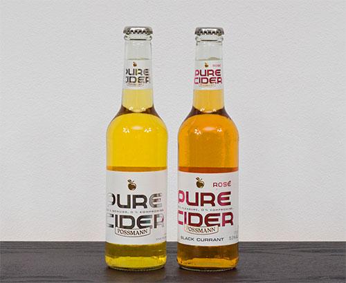 Possmann Pure Cider din mere și arome de coacăze negre, 350ml - 5% vol